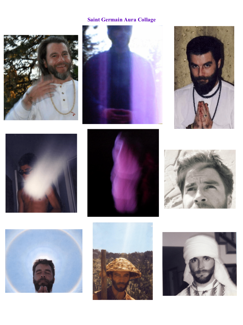 Saint Germain Aura Collage