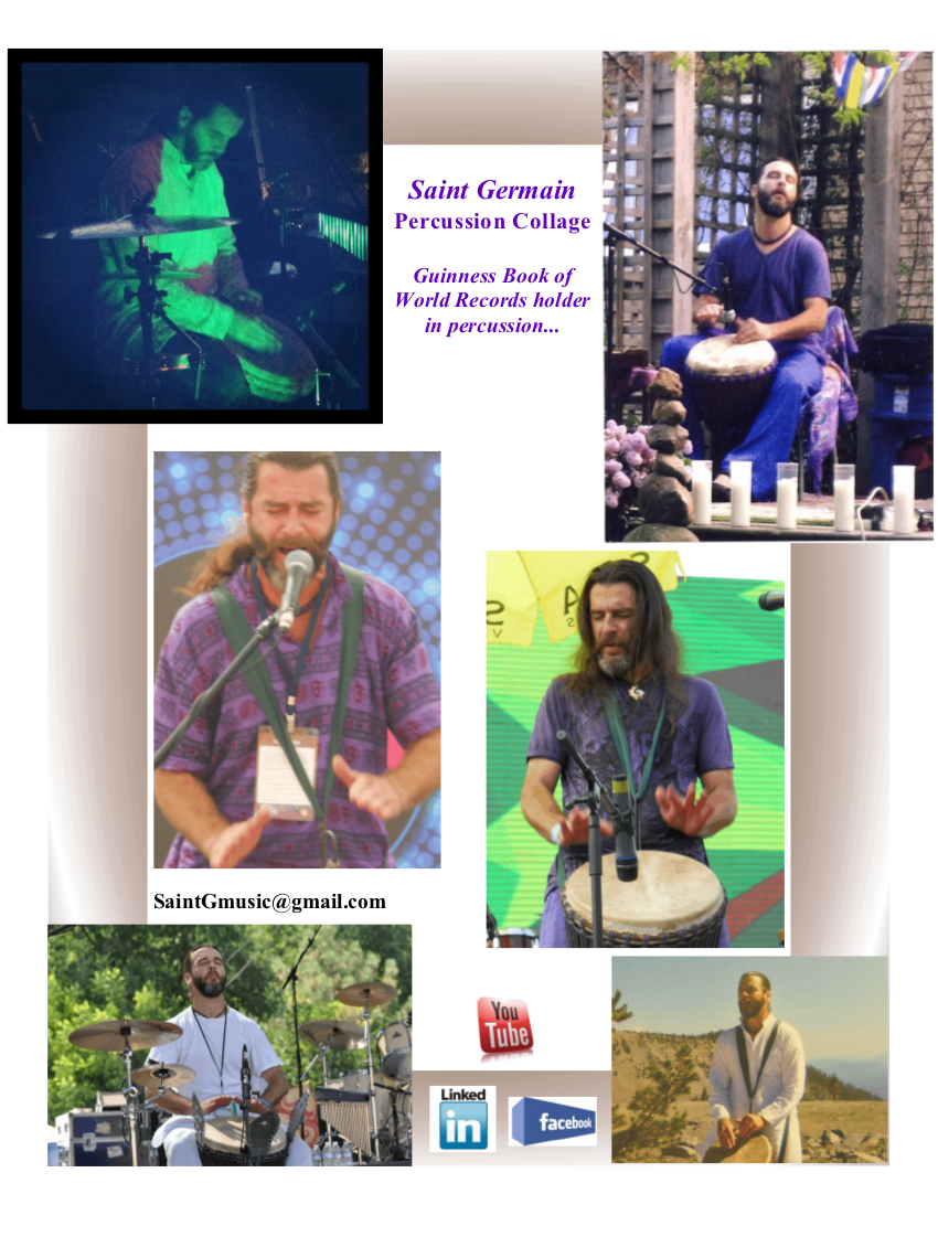 Saint Germain Percussion Collage